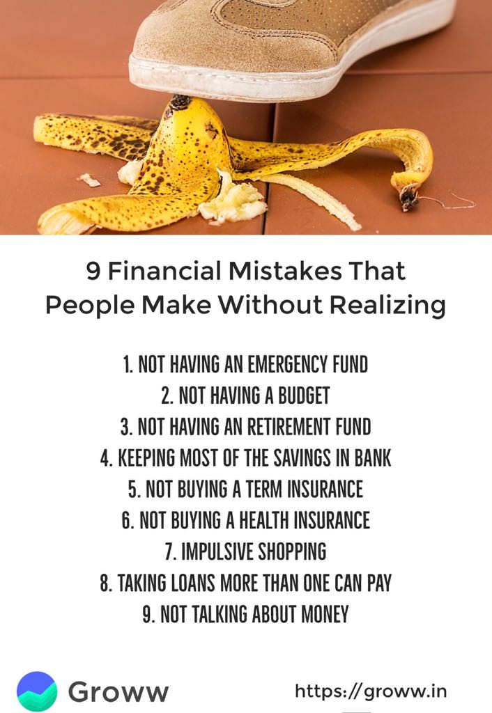 9 financial mistakes people make