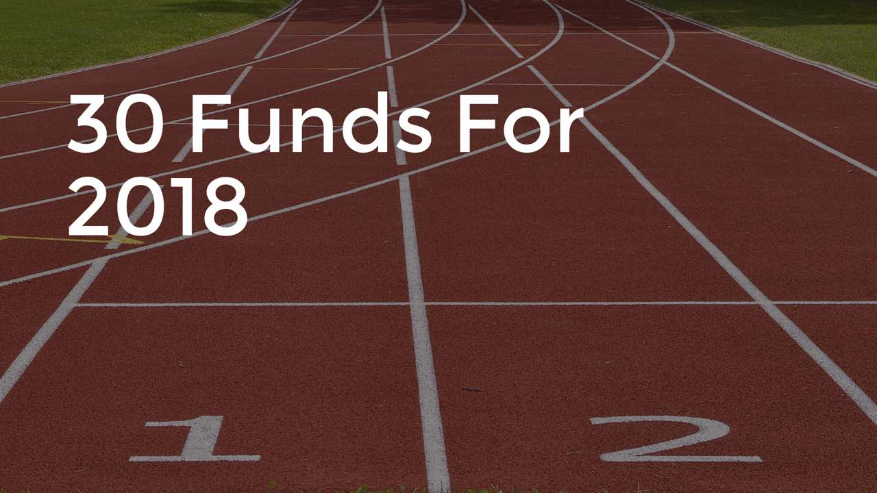 best 30 funds to invest in 2018