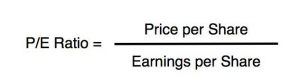 p/e price per share earnings per share