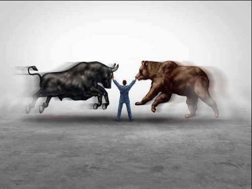 """Fight of Bull /& Bear Symbol of Rise /& Fall on Stock Market  Gift for Broker 7/"""""""