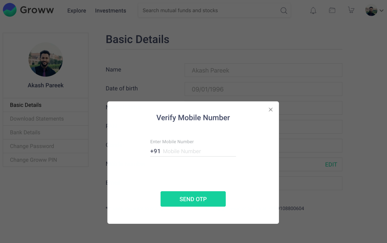 How to Change Mobile Number Step-4