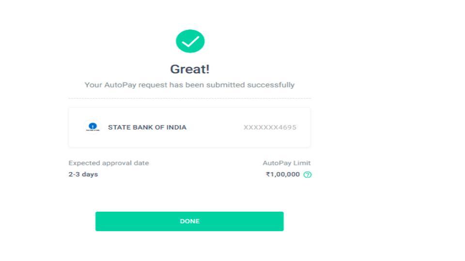 Autopay debit success