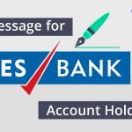 Message for YES bank account holders
