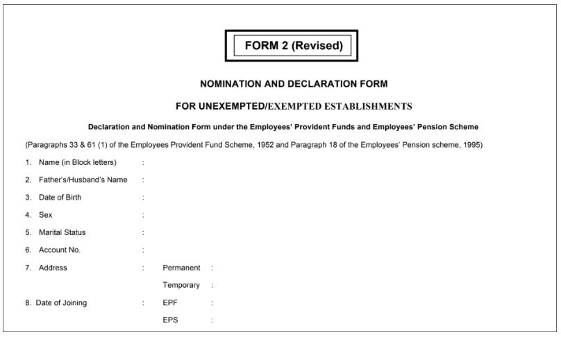 EPF Form 2