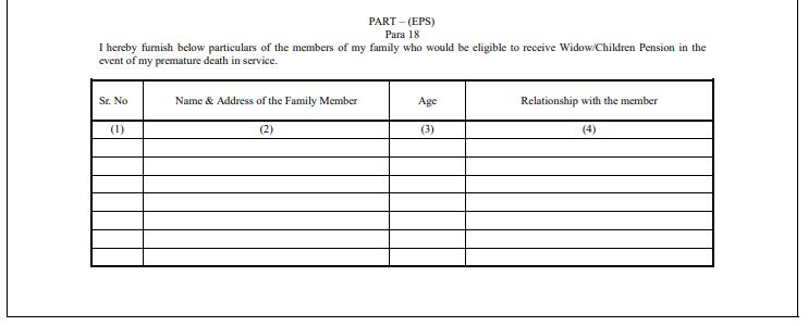 EPF Form 2 Part-B