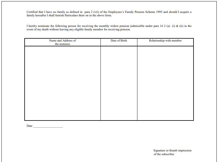 EPF Form 2 Para 18