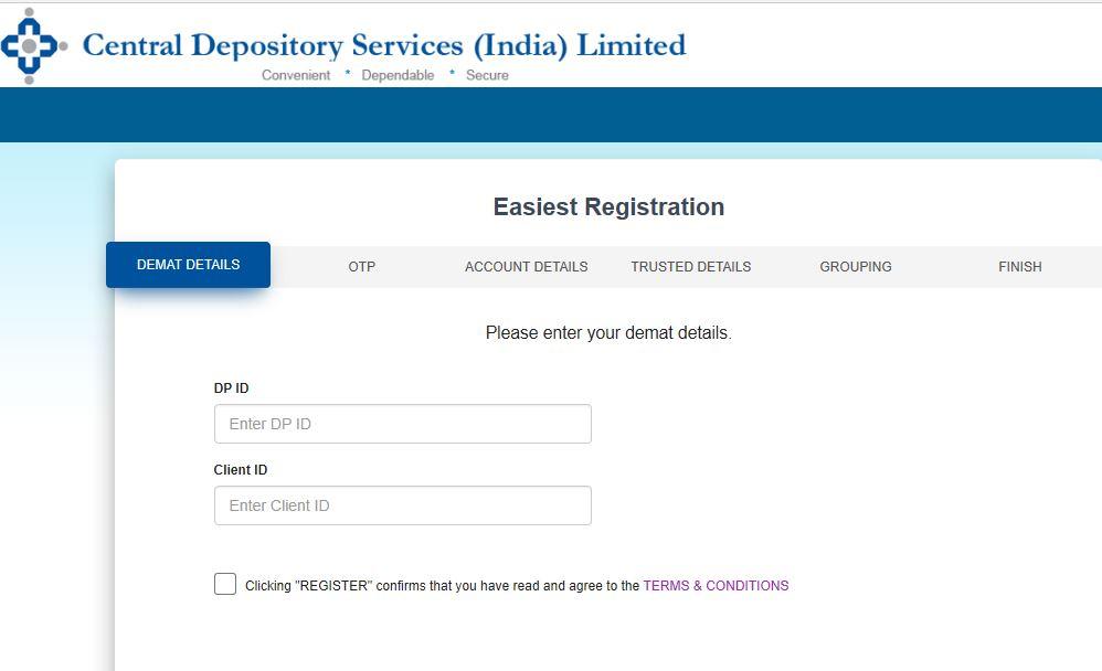 CDSL Registration
