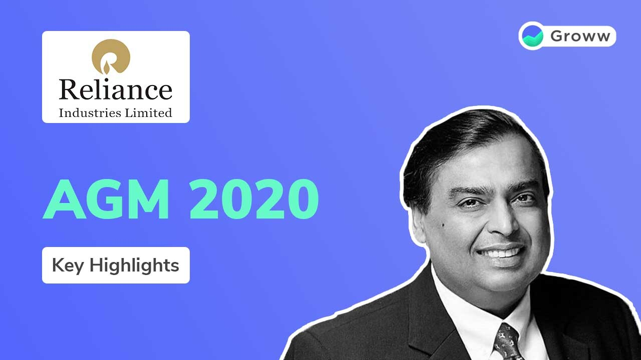 Reliance Industries Limited AGM 2020