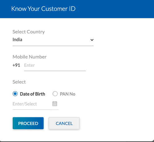 yes bank know your customer id