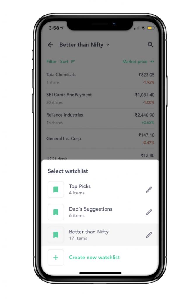 Watchlist on Groww App